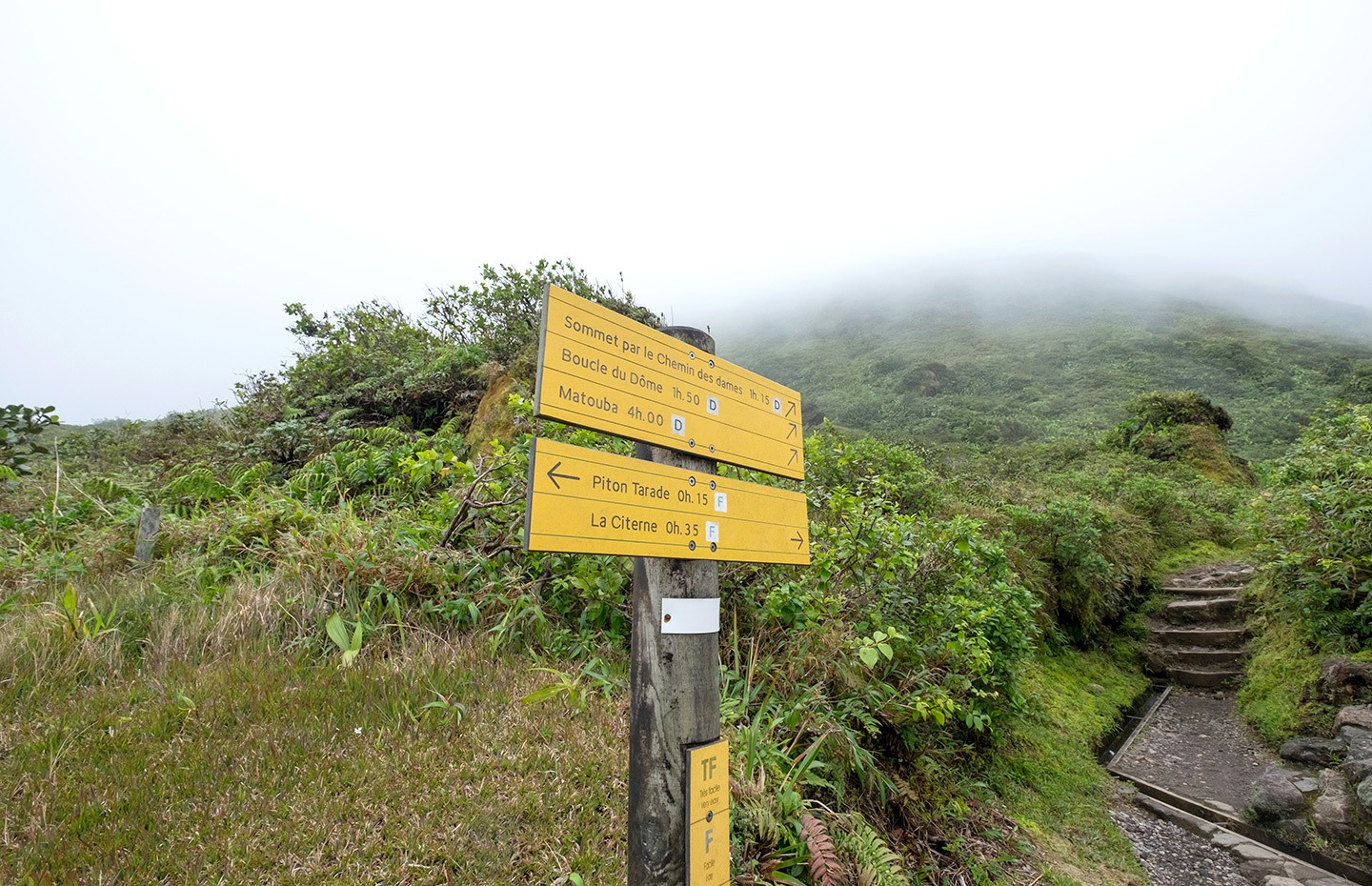 The walk to the peak of La Soufrière volcano in Basse-Terre, Guadeloupe