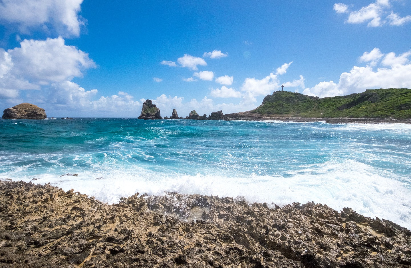 Pointe des Châteaux in Guadeloupe, French Caribbean