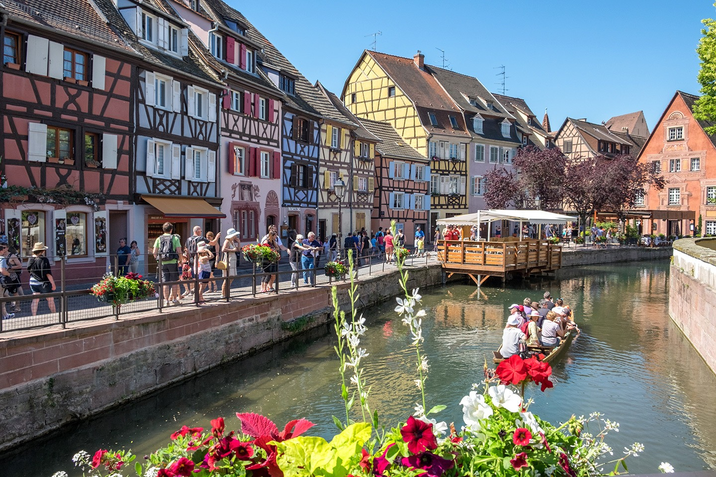 Along the canals in Colmar