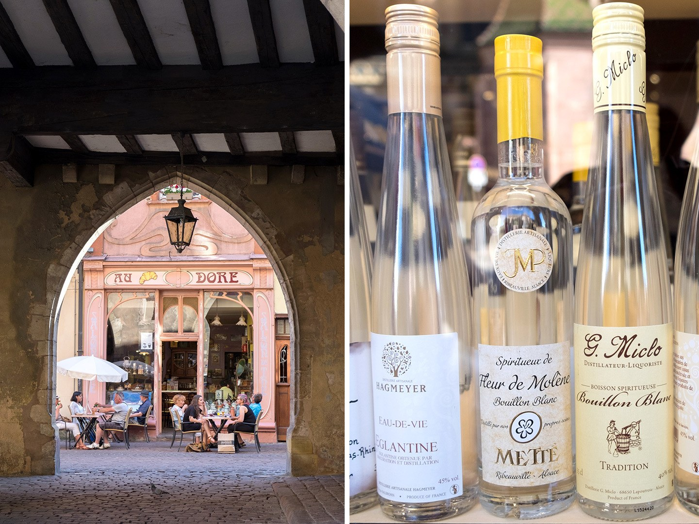 Cafe culture and Alsace wine