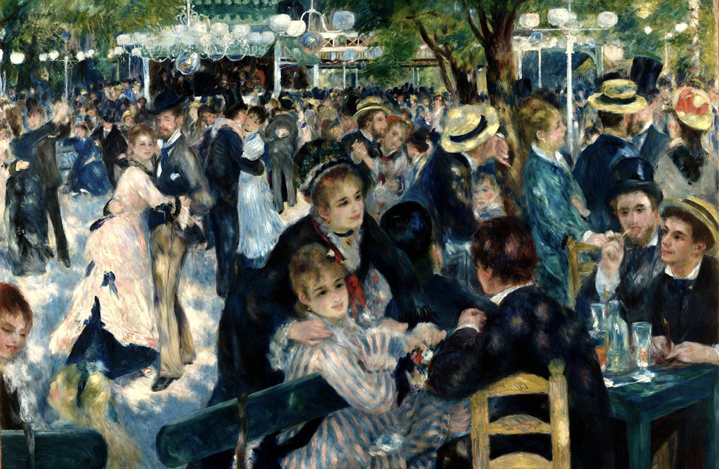 Renoir's painting Dance at Le Moulin de la Galette from the Musee d'Orsay in Paris