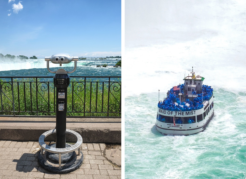 Niagara Falls views and boats, Ontario