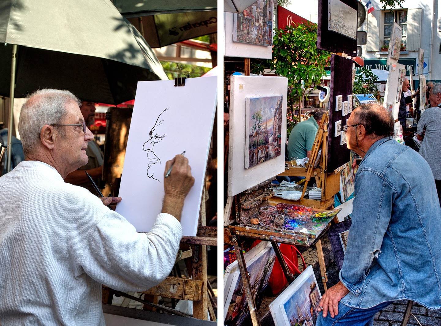 Artists in the Place du Tetre, Montmartre Paris