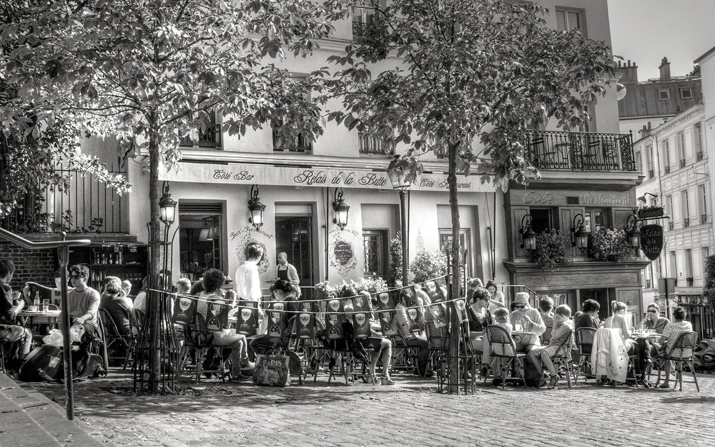 Café in Place Emile Goudeau, near the Bateau-Lavoir artists' studio