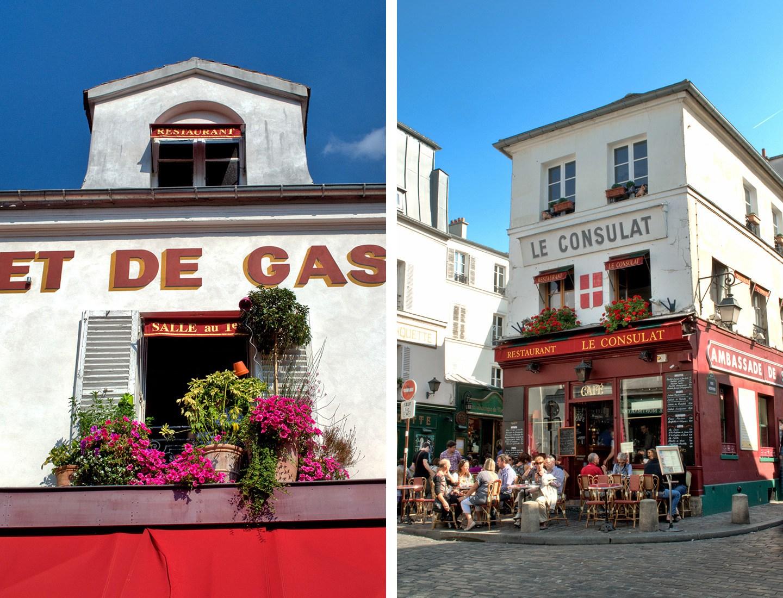Cafés in Montmartre, Paris