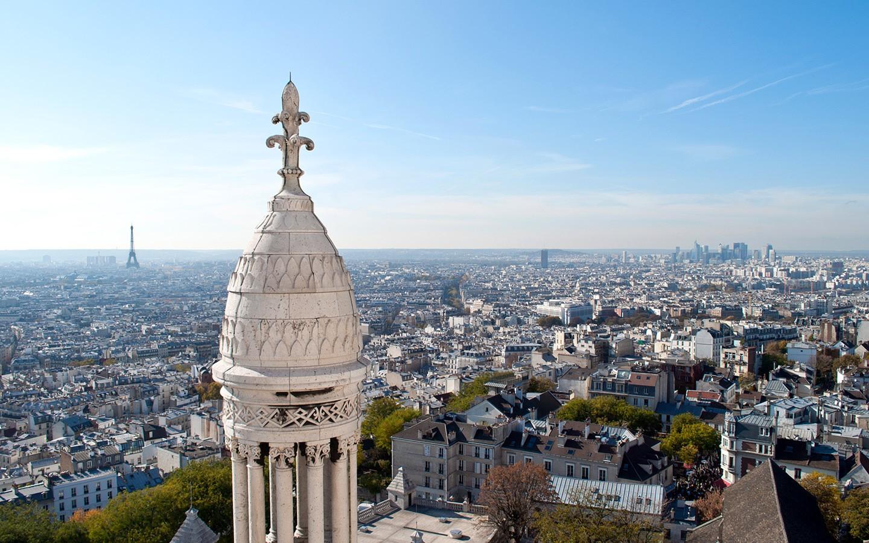 Views from the top of Sacré-Cœur Paris