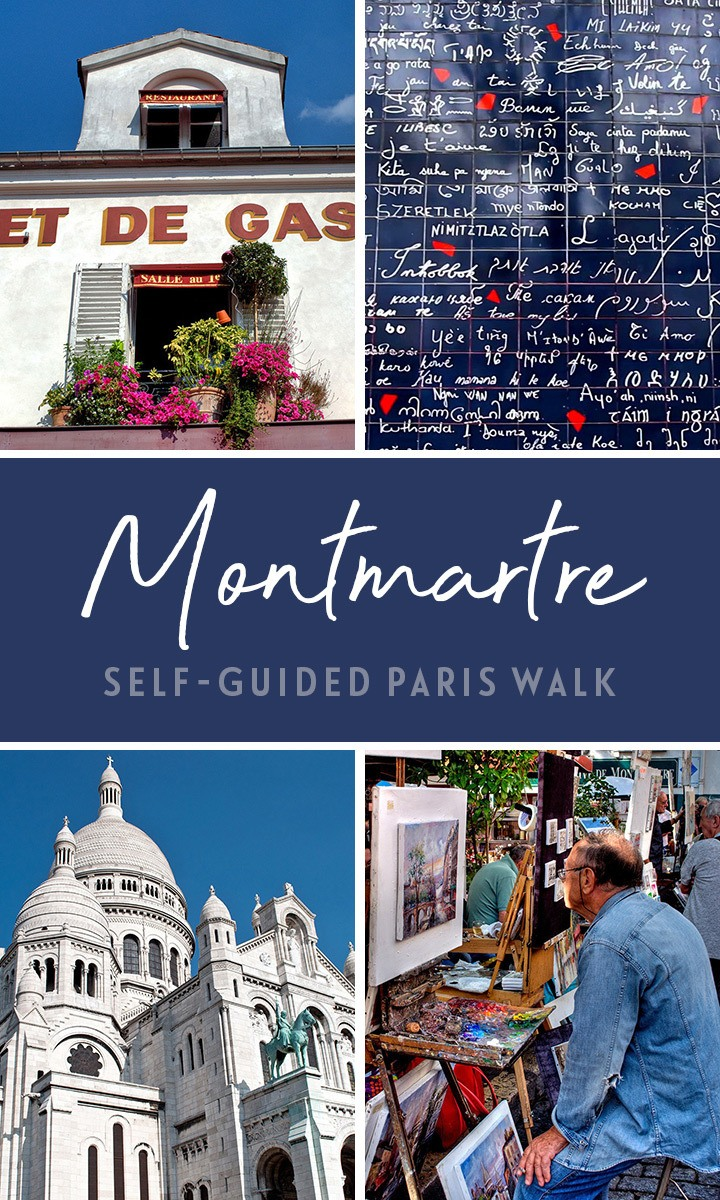 A self-guided of Montmartre walking tour of Paris, exploring the art and history of this bohemian, artistic neighbourhood – map and directions included. #Paris #walk #Montmartre
