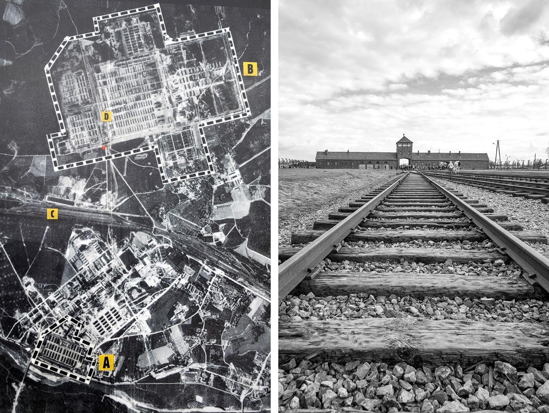 Auschwitz-Birkenau map, Poland