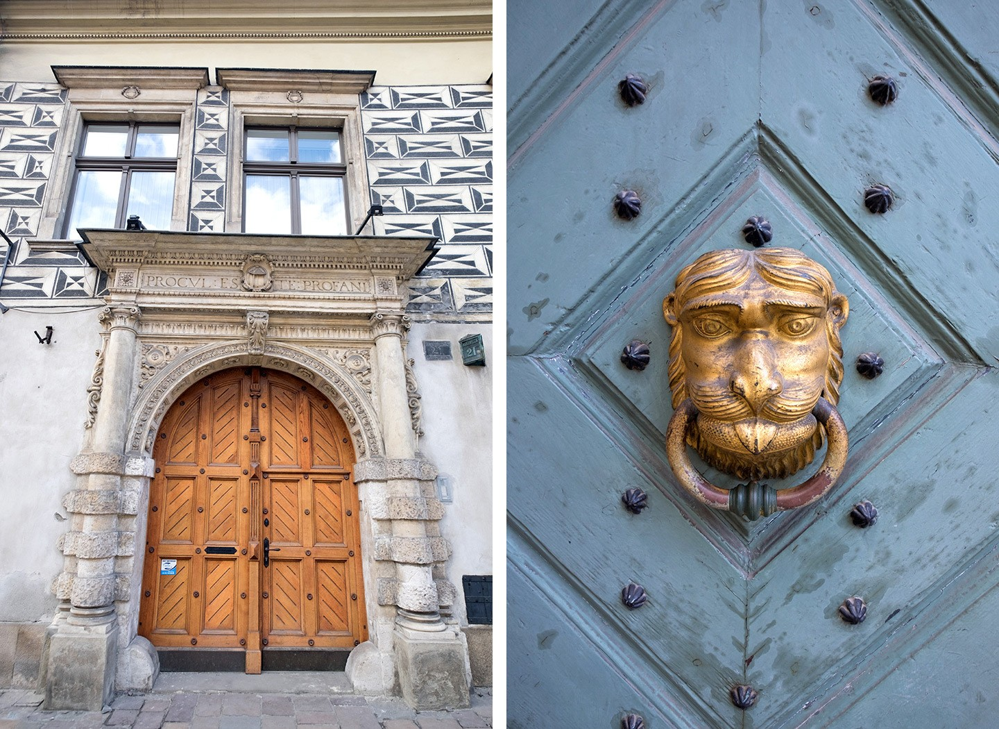 Krakow old town doors