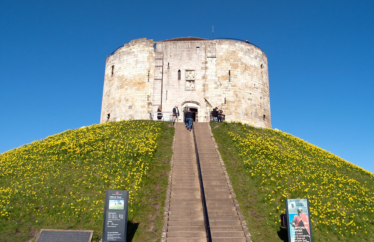 Clifford's Tower historic attraction in York