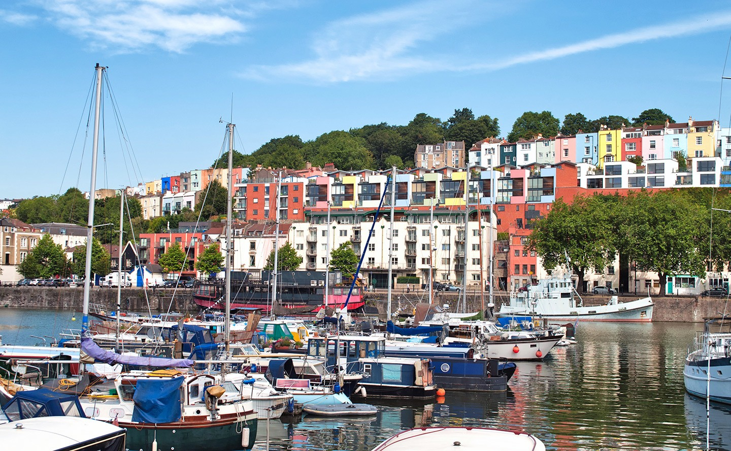 Bristol's colourful waterfront