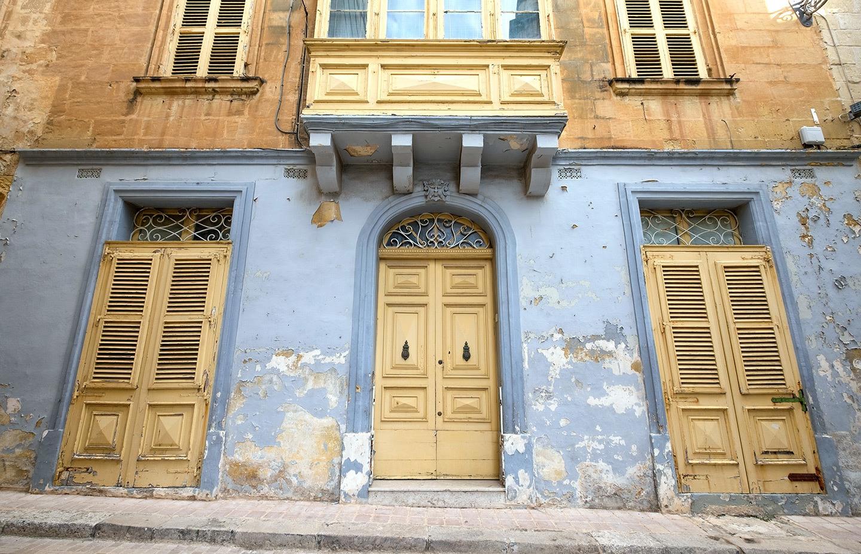 Doors in Vittoriosa in Valletta, Malta