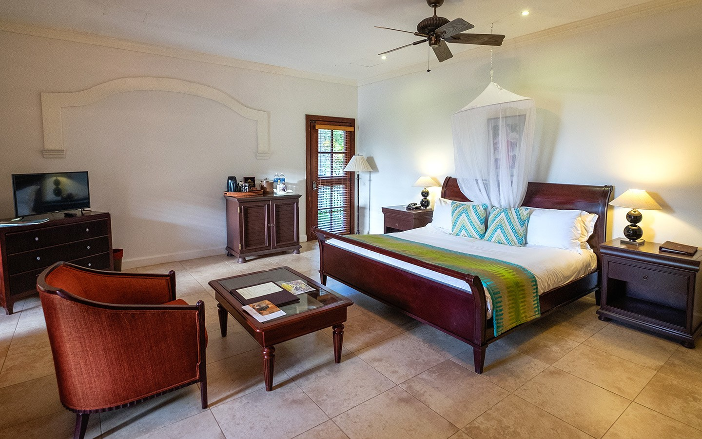 Villa bedroom at Cap Maison, Saint Lucia