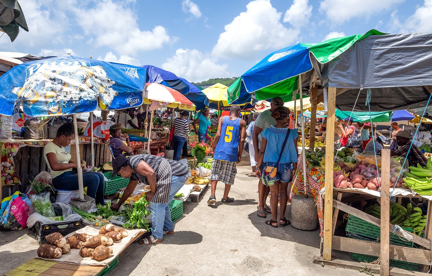 Shopping sustainably at Castries market in Saint Lucia