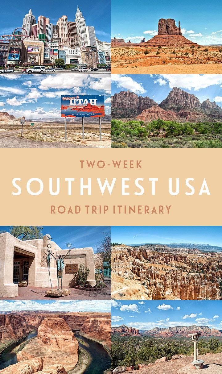 A two-week Southwest USA road trip through Utah, Nevada, Arizona, New Mexico and Colorado, with National Parks, scenic drives and quirky attractions | USA road trip | Southwest USA | Road trip itinerary | #southwest #southwestusa #wildwest #roadtrip