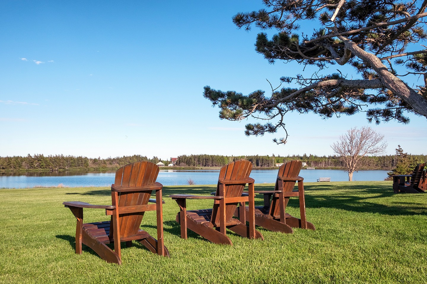 Seats by the water in Prince Edward Island, Canada