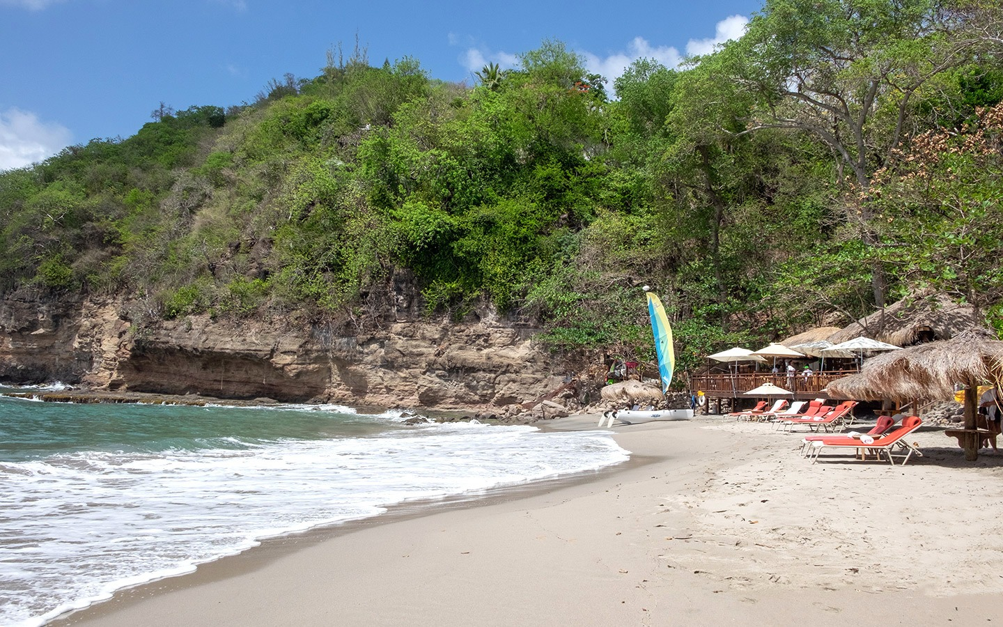 Smugglers Cove beach at Cap Maison, Saint Lucia