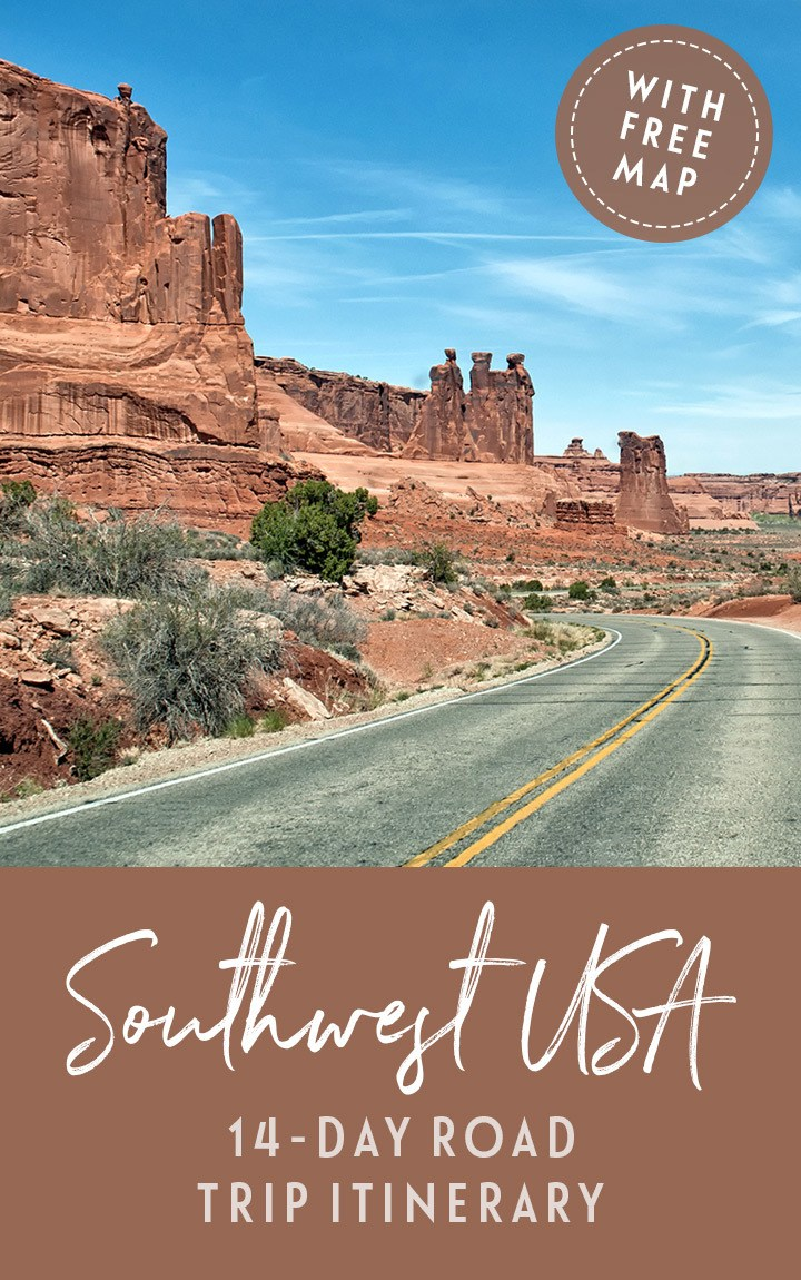 The perfect 14-day Southwest USA road trip itinerary – featuring five states, six National Parks, scenic drives, stunning views and quirky roadside attractions. #southwest #southwestusa #wildwest #roadtrip #usaroadtrip #southwestroadtrip