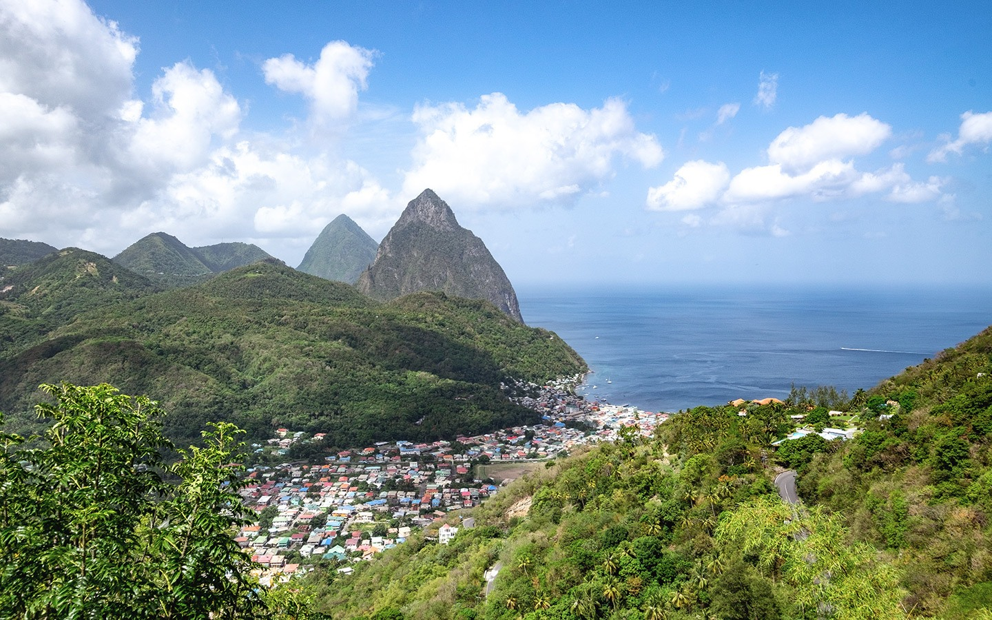 Scenery in Saint Lucia
