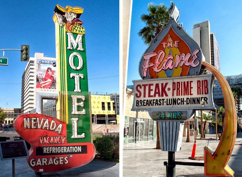 Vintage neon in Old Vegas near Fremont Street, Las Vegas