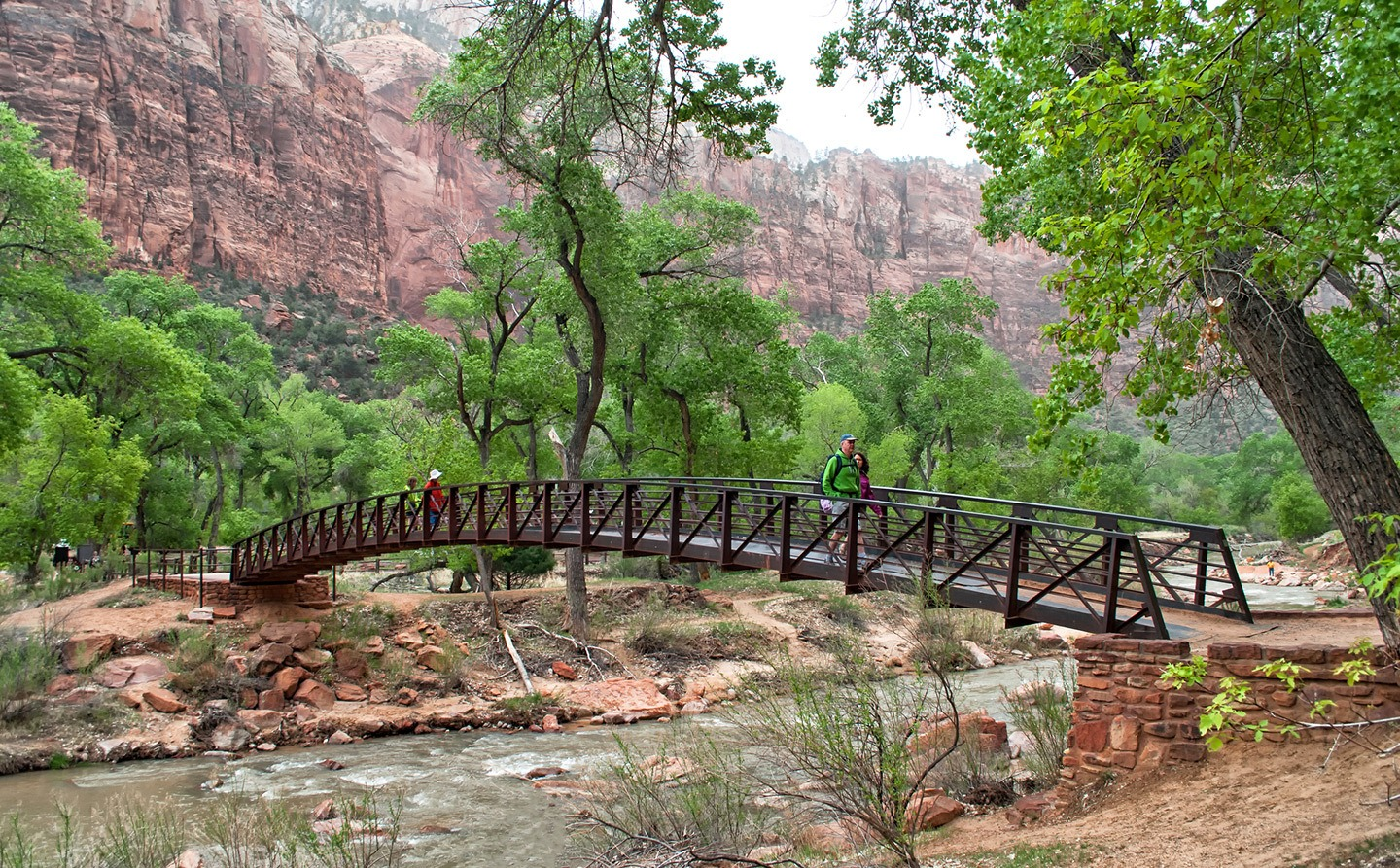 Bridge at Zion National Park, Utah, USA