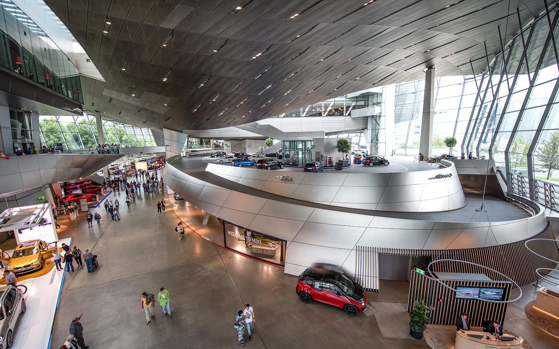The BMW Welt car museum in Munich