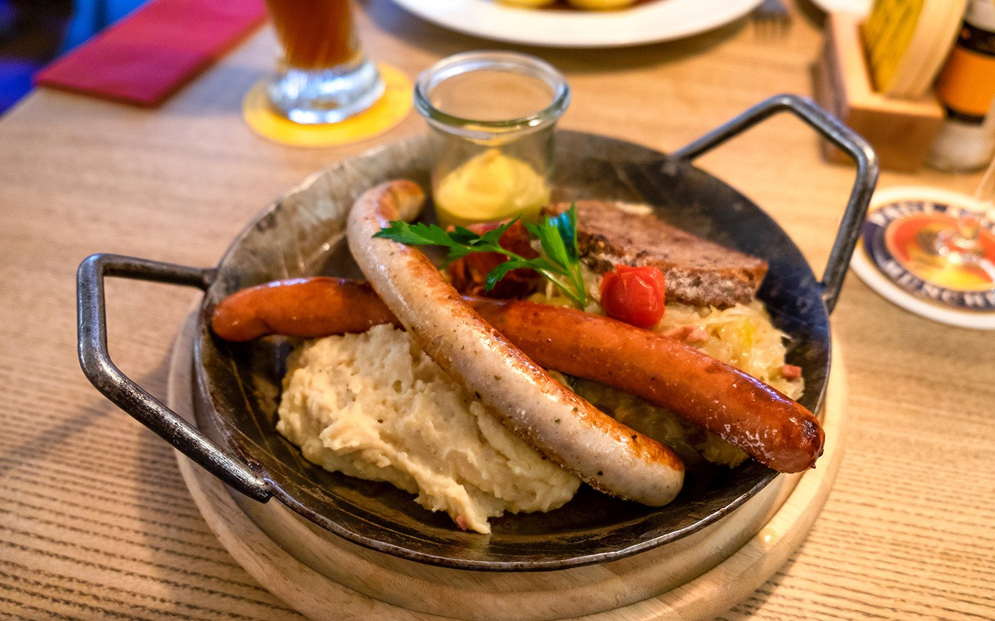 Bavarian food in Munich, Germany