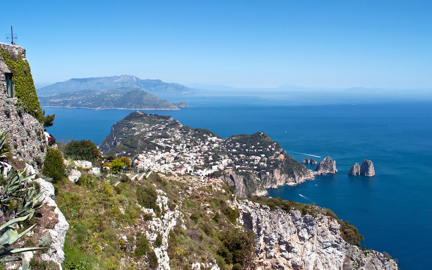 Views from Monte Solaro in Capri, Italy