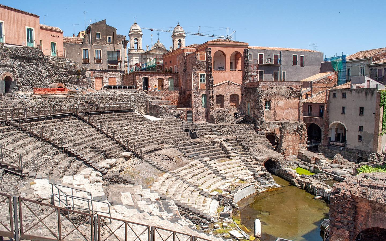 Roman amphitheatre in Catania, Sicily
