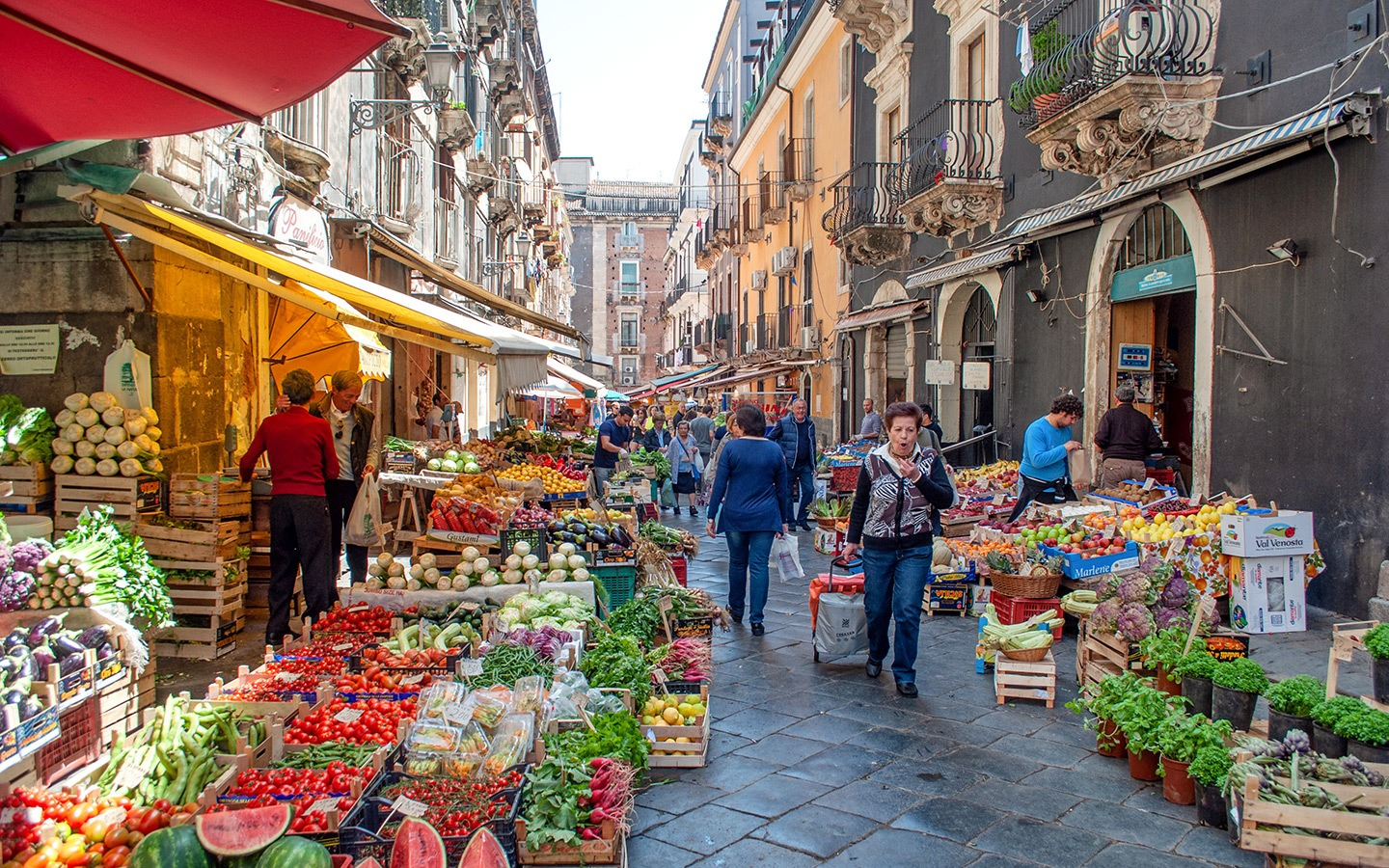 Fruit and vegetable markets in Sicily, Italy