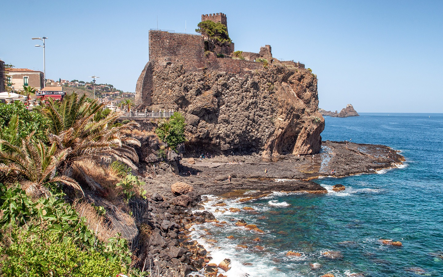 Aci Castello castle in Sicily