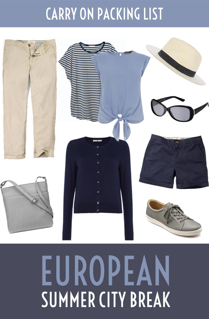 The ultimate carry on packing list for a summer city break in Europe – what you need to pack for a long weekend break – including a PDF packing list to download #packinglist #citybreak #whattopack