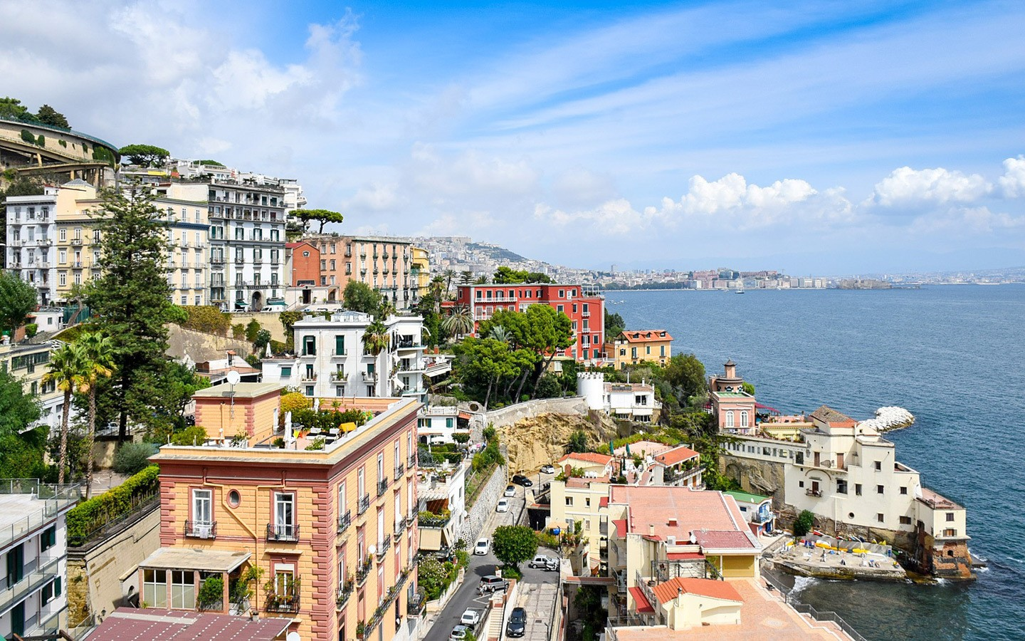The colourful coastal city of Naples in Southern Italy