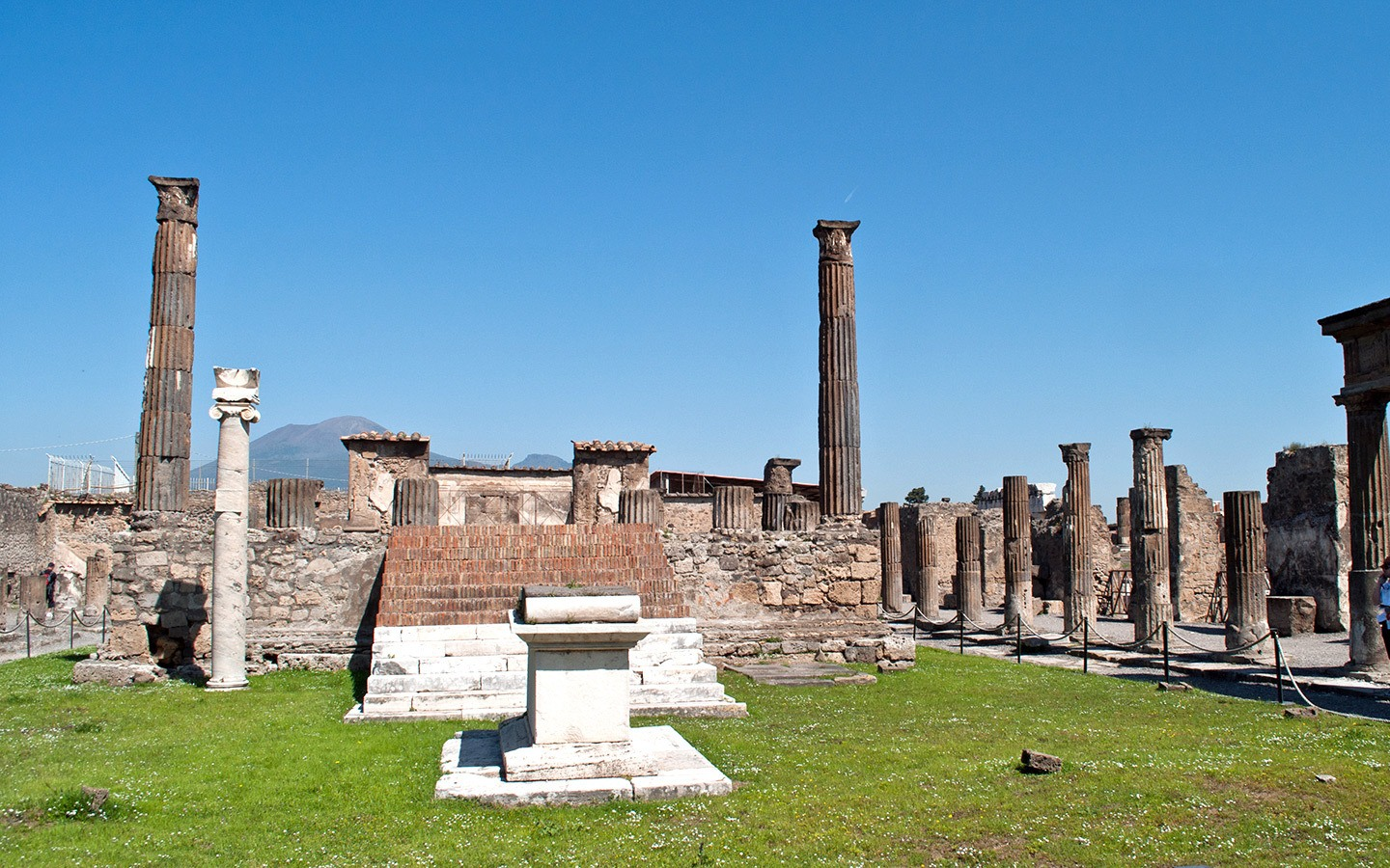 The buried Roman city of Pompeii, Italy