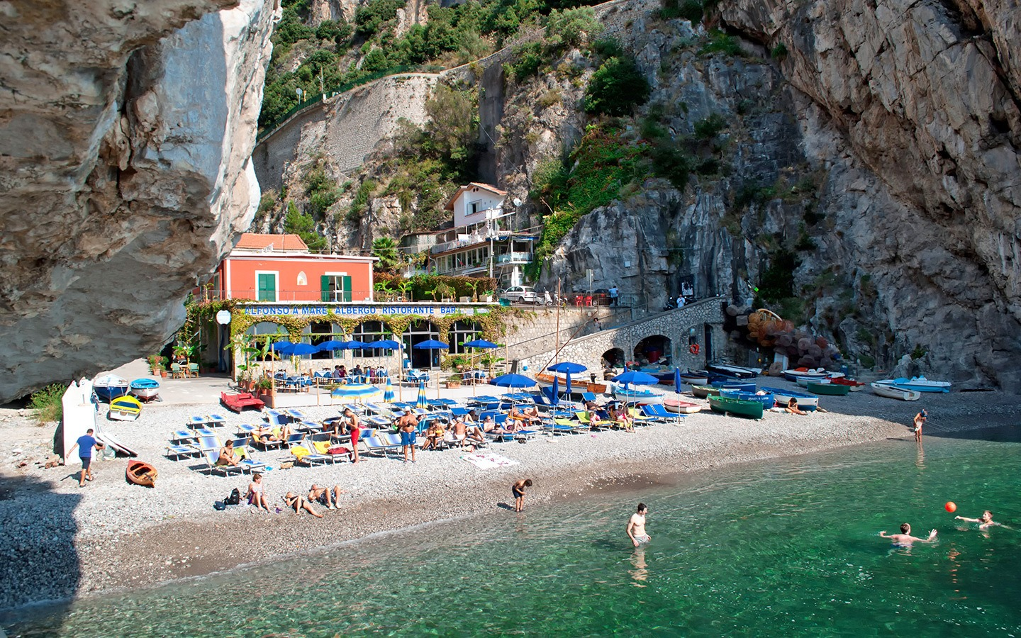 Beach on the Amalfi Coast, Southern Italy