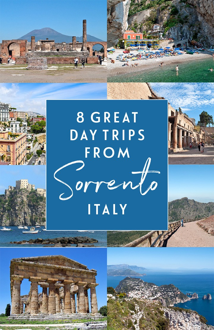 Eight great day trips from Sorrento in Southern Italy, including Pompeii, Capri and the Amalfi Coast, which you can visit by public transport or on a tour. #Sorrento #Italy #daytrip #SouthernItaly