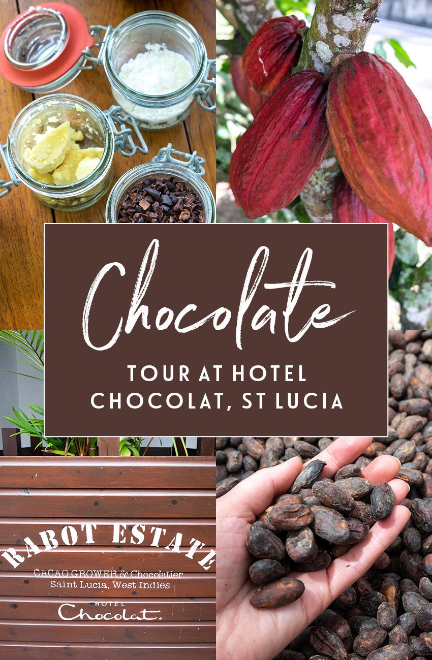 Heaven for chocolate lovers on a chocolate tour and chocolate-making at Hotel Chocolat's Rabot Estate in Saint Lucia, taking you from tree to bean to bar #chocolate #HotelChocolat #chocolatetour #SaintLucia #StLucia