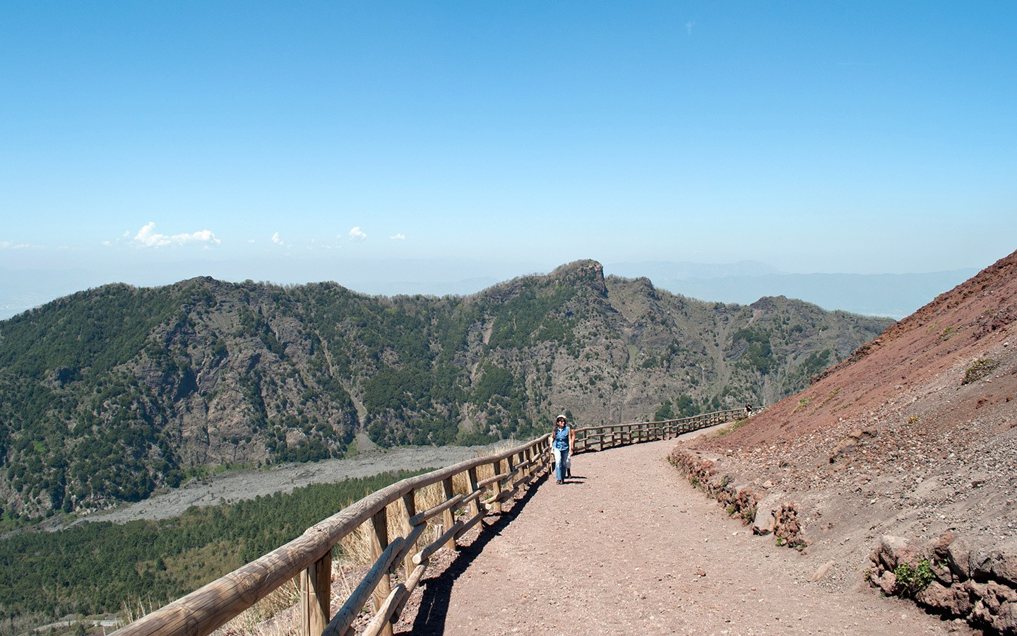 Climbing Vesuvius on the crater path