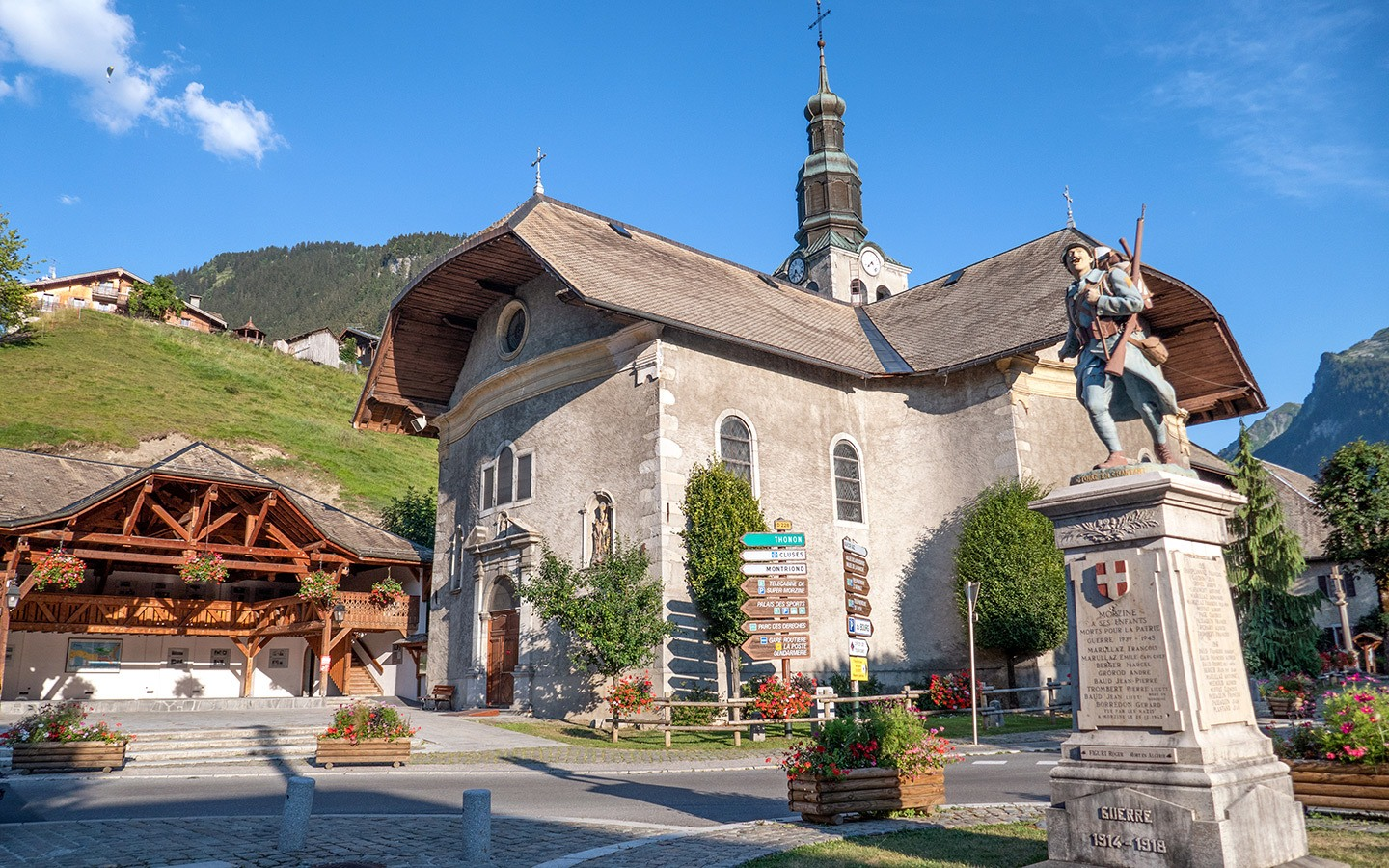 Church in Morzine in the French Alps