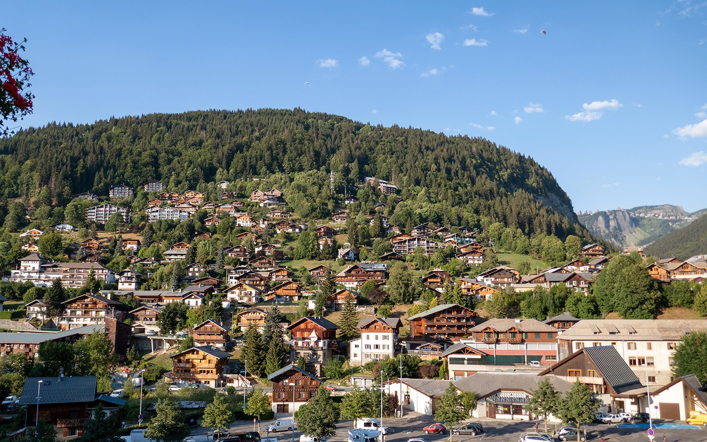 Morzine town centre, French Alps
