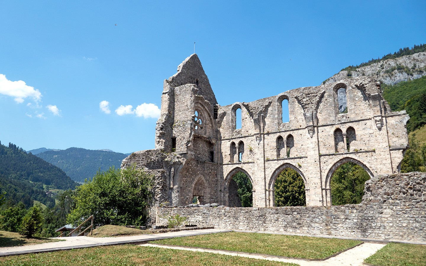 The Abbey in St Jean d'Aulps, French Alps