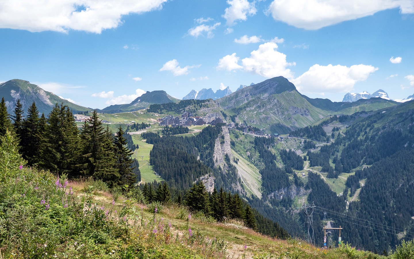 Avoriaz ski resort in summer, French Alps
