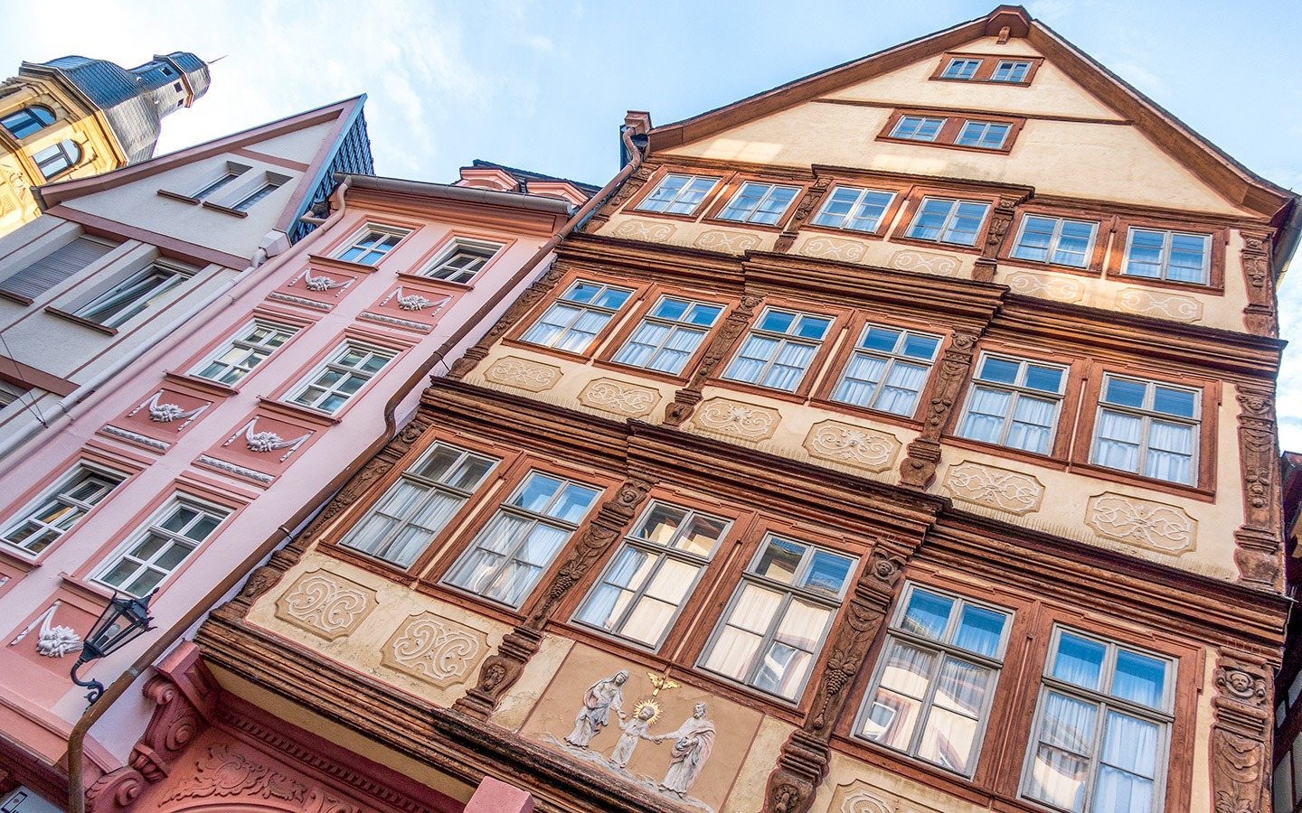 Half-timbered buildings in Mainz