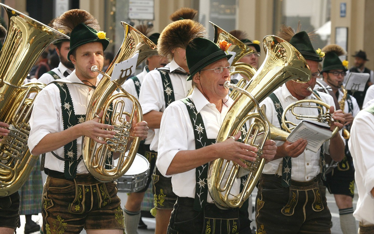 Parades at Munich's Oktoberfest beer festival