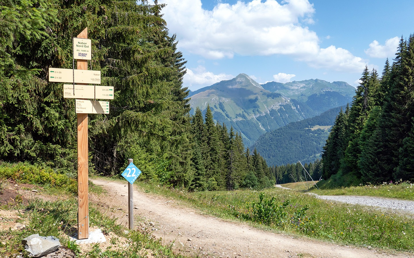 Summer walking in Morzine in the French Alps