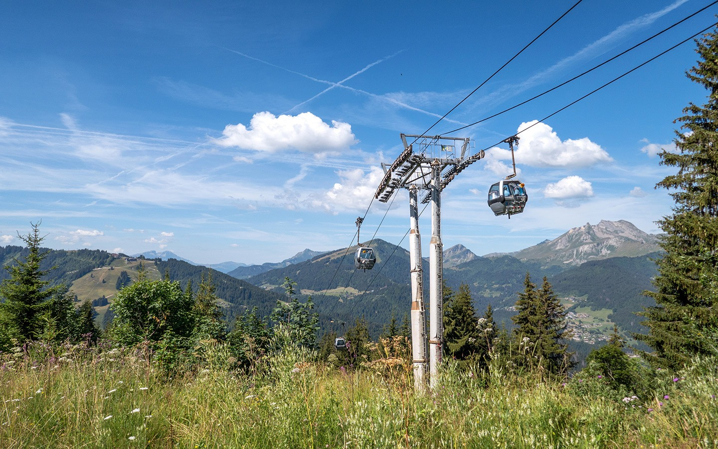 The Super Morzine cable car, Portes du Soleil, France