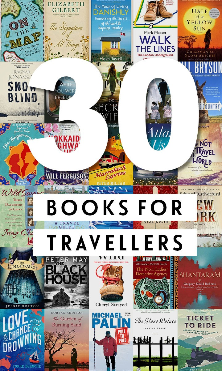 30 wanderlust-inspiring books for travellers, featuring the best fiction, non-fiction and memoirs – travel books to transport you around the world. #travel #books #reading #travelbooks #travelreads