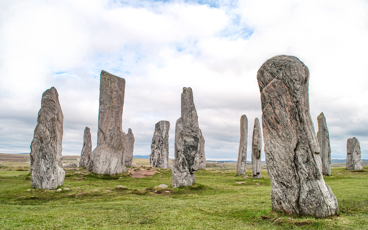 The historic Callanish Stones in the Outer Hebrides, Scotland