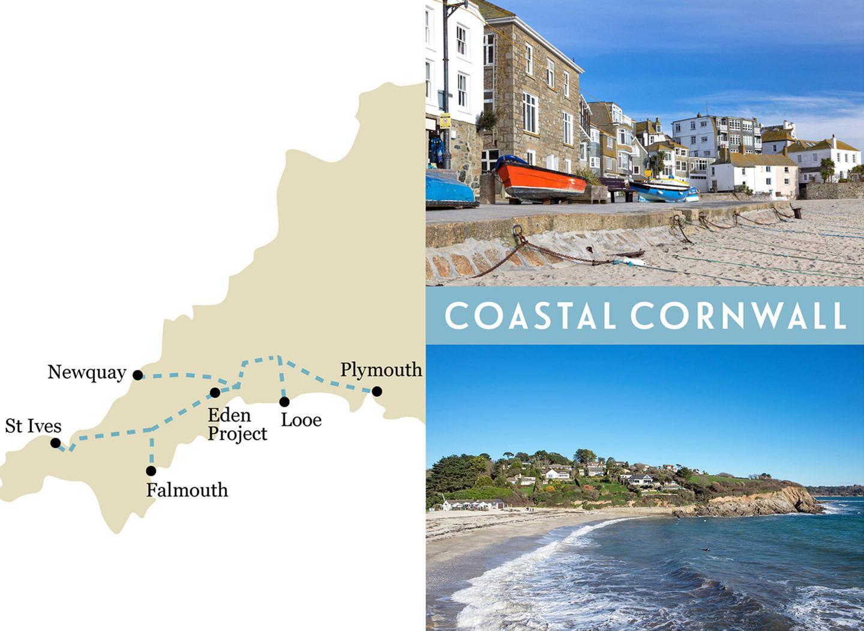 Britain by train: Coastal Cornwall one-week rail trip route map