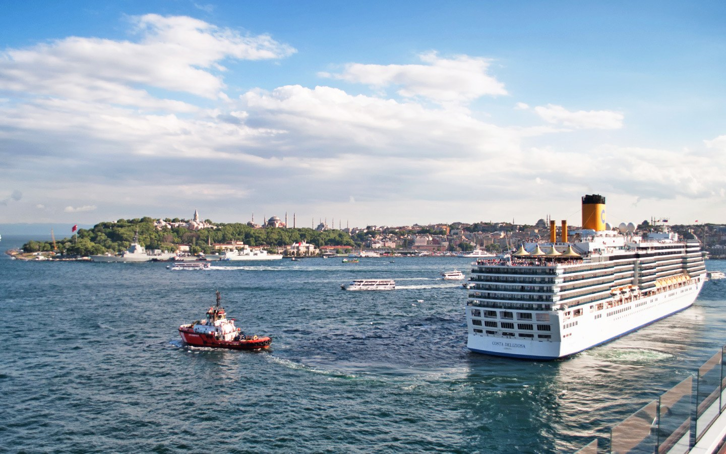 Cruise ship in Istanbul harbour